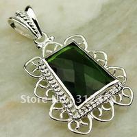 Suppry 5PCS envío gratuito de la moda de joyería de plata colgante de piedras preciosas Peridot natrual LP0431 (China (continental))
