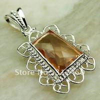 Suppry 5PCS moda envío gratis de joyería de plata colgante de piedras preciosas morganita LP0436 (China (continental))