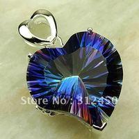 Moda de joyería de plata 5PCS mística piedra preciosa topacio colgante joyas gratis LP0441 de envío (China (continental))