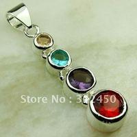 Suppry plata 5pcs joyas de piedras preciosas de color rojo Kunzite joyería colgante libre LP0570 de envío (China (continental))
