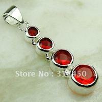 Suppry 5PCS plata joyería de piedras preciosas de color rojo Kunzite joyería colgante libre LP0574 de envío (China (continental))