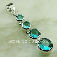Nuevas joyas de plata 5pcs suppry verde amatista colgante de piedras preciosas joyas prasiolite libre LP0572 de envío (China (continental))
