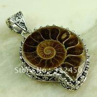 Esterlina joyería hecha a mano de piedras preciosas joyas de plata ammonite colgante libre LP0671 de envío (China (continental))