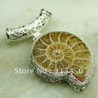 Esterlina joyería hecha a mano de plata colgante de piedras preciosas joyas ammonite envío gratis LP0594 (China (continental))