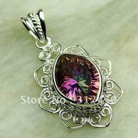 Plata joyería de moda colgante de piedra preciosa topacio místico suppry 5PCS joyas envío gratis LP0670 (China (continental))