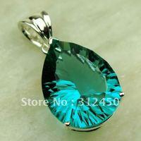 Plata Fahion joyería verde amethys prasiolite piedra colgante de joyería de envío gratis a LP0599 (China (continental))