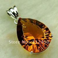 Fahion joyería de plata colgante de piedras preciosas de Brasil citrino joyas de envío gratis a LP0600 (China (continental))