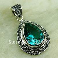 Fahion joyería de plata verde amethys prasiolite colgante de piedras preciosas joyas de envío gratis a LP0595 (China (continental))