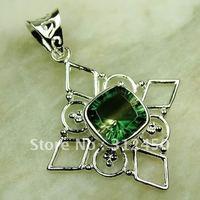 Fahion plata joyería de piedras preciosas Topacio místico colgante de joyería de envío gratis a LP0596 (China (continental))