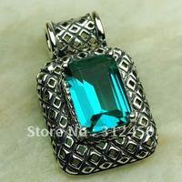 Plata Fahion joyería verde amethys prasiolite piedra colgante de joyería 5PCS suppry envío gratis LP0591 (China (continental))
