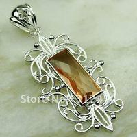 Wholeasle plata joyería de piedras preciosas morganita colgante envío gratis LP0569 joyas (China (continental))