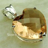 Suppry plata joyería de moda colgante de joyería de piedras preciosas morganita libre LP0564 de envío (China (continental))