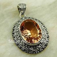Suppry 5PCS moda de joyería de plata joyería de piedras preciosas morganita colgante libre LP0583 de envío (China (continental))
