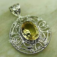 Ventas fahion calientes de joyería de plata luz citrino gema envío gratis LP0676 colgante (China (continental))