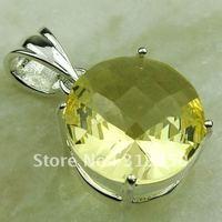 Fahion ventas calientes de joyería de plata colgante de piedra preciosa luz citrino libre LP0568 de envío (China (continental))
