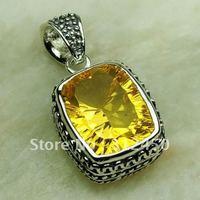 Ventas fahion calientes de joyería de plata colgante de piedras preciosas citrino envío gratis LP0596 (China (continental))