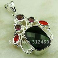 Fahion plata joyería de piedras preciosas Peridot natrual colgante envío gratis LP0577 (China (continental))