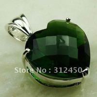 Fahion plata joyería de piedras preciosas Peridot natrual colgante envío gratis LP0556 (China (continental))