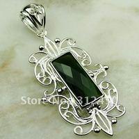 Fahion plata joyería de piedras preciosas Peridot natrual colgante envío gratis LP0555 (China (continental))
