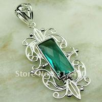 Fahion joyería de plata verde amethys prasiolite colgante de piedras preciosas joyas suppry envío gratis LP0557 (China (continental))