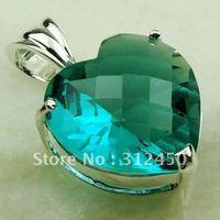 Suppry plata 5PCS joyería verde amethys prasiolite piedra colgante de joyería de la manera libre LP0559 de envío (China (continental))