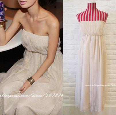 Cheap Maxi Dress on Dress On Bridal Net Strapless Maxi Bohemian Long Dress Evening Dress
