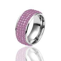 Золото 18k позолоченный кольца cz кристалла кольцо размер 8 kr041
