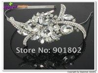 Брошь Seperwar Clear Crystals Bridal Brooch Wedding Jewelry Flower Brooch Pin 3.9
