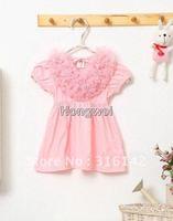 new design summer Children dress white pink Girl Swan dress ,baby tutu T-shirt , infant dress 5pcs/lot 9024-1white