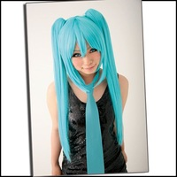 Hot Selling Cosplay wigs - 80CM Anime cosplay long curly party wig (pink) for Cosplay Party - High Quality