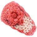100% cotton Wide Knit Flower Crochet Headwrap summer handmade Headbands Tri-colors
