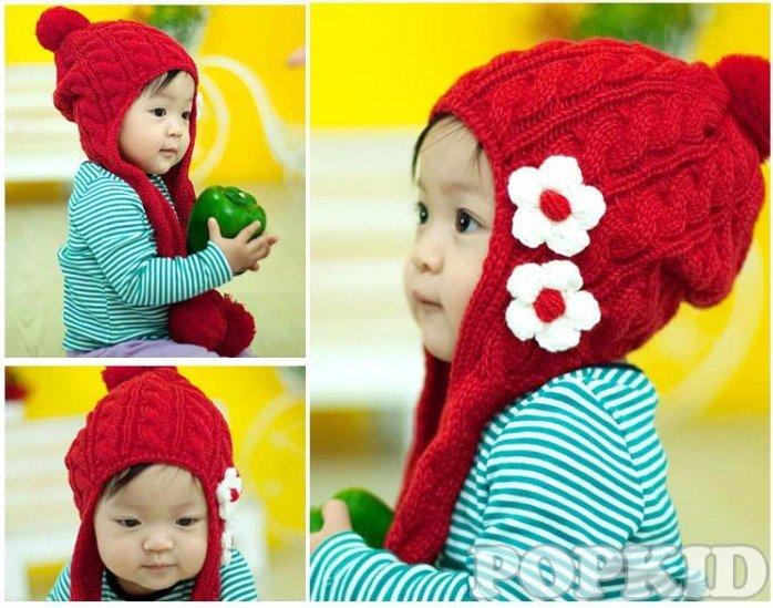 Вязание для детей зимние шапки