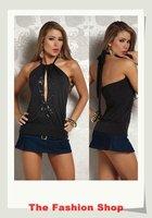 FREE SHIPPING!2012 New Sexy Clubwear Top,Fashion Ladies's T-shirt,Free size,NA25064,White