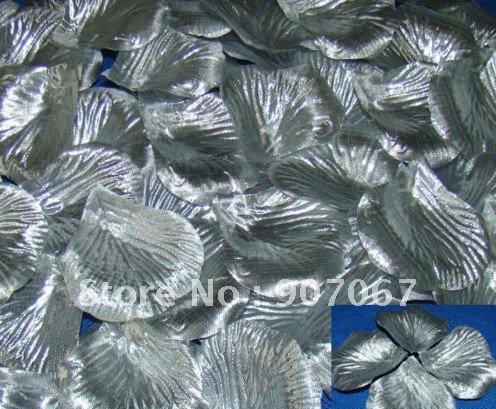 5000PCS Lot Silver High quality Rose Petals Wedding Favors Petals