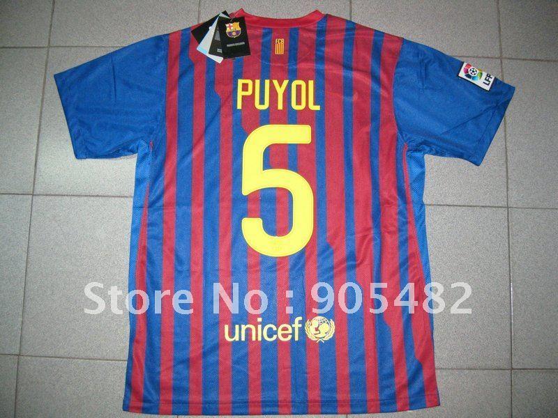 Carles Puyol Barcelona Jersey Carles Puyol Jersey Spain 2012