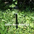 Wholesale 8pcs/lot STAINLESS STEEL TUBE GARDEN SOLAR POST LIGHTS NEW