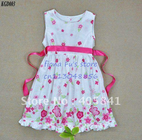 Girls flowe butterfly cotton dress kids baby clothing kids children dresses ...