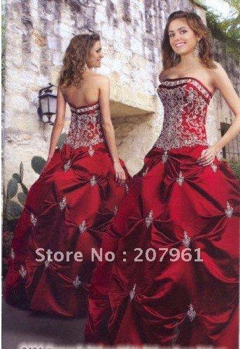 Stock Red Apple Wedding Brides