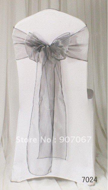 100pcs 7 108 18 275cm black organza chair sashes wedding party sashes
