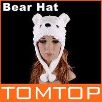 5pcs/lot, Cartoon Animal Hat Panda Cute Fluffy Plush Hat Cap Hats