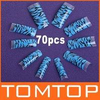 Накладные ногти 100 pcs Professional Clear Acrylic False Nails Half Tips with Syringe