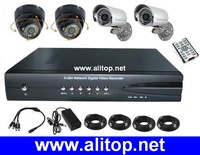 CCTV Видеорегистратор 4 channel H.264 full d1 VGA TV OUTPUT RS485 Network cctv dvr recorder