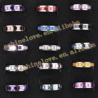 Кольцо 50Pcs Black Cross Bible Stainless Steel Rings For Men/Men's Rings Ri-st7