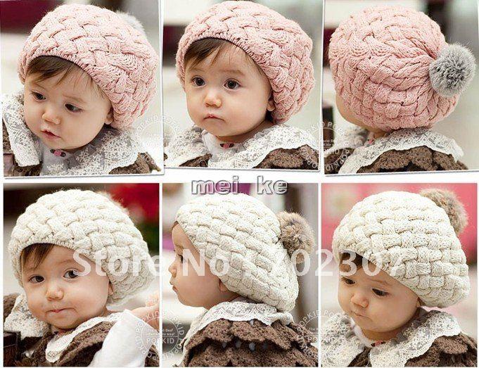 Вязание детям шапочки для девочек 978