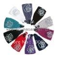 rhinestone flower Handmade headband Knit Headwrap crochet Headbands headwear 50pcs mix colors