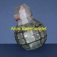 Alice papermodel] 1:1 halo Reach AR auto rifle Pistol reach gun canon covenant Spartan models spaceship models robot models