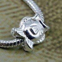 PA5181..Free shipping 20pcs/lot , Fashion silver charm fits all jewelry playboy  chram