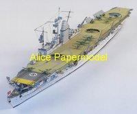 Игрушечная техника и Автомобили papermodel] 70 1: 150 destoryer battleship models army models warship models