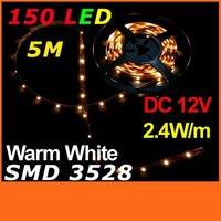 Светодиодная лента TOMTOP 5M SMD 3528 150 12 IP65 2.4w /5  H4789 H4789W