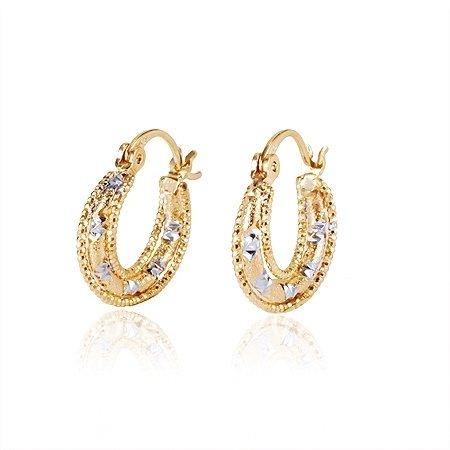 Model  Small Diamond Hoop Earrings For Men And Women 12ct Huggies 14k Gold